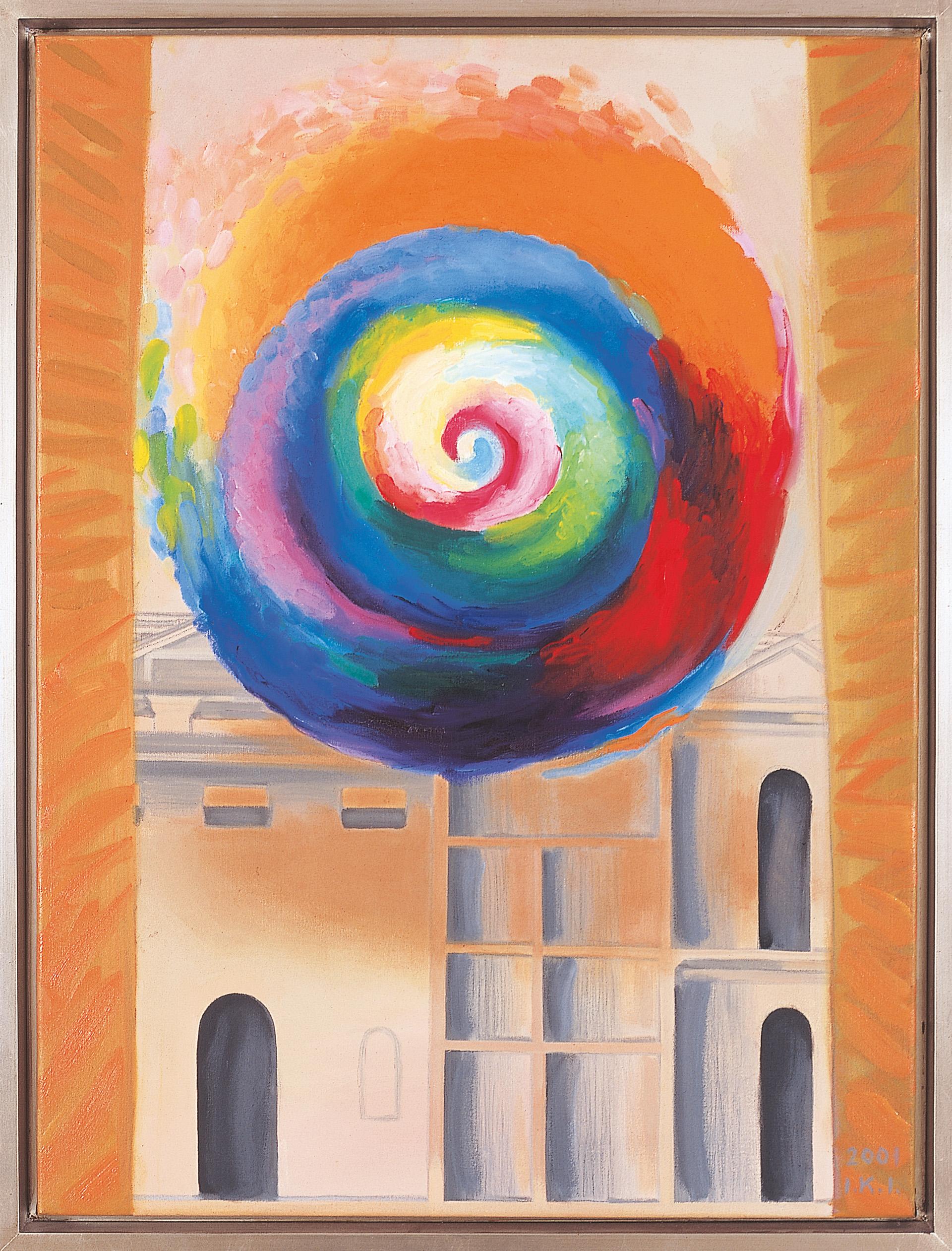 IKI 2001/1123 Omaggio á deChirico, Róma 2001. 03. 26. o. grafit vászon 80x60 cm