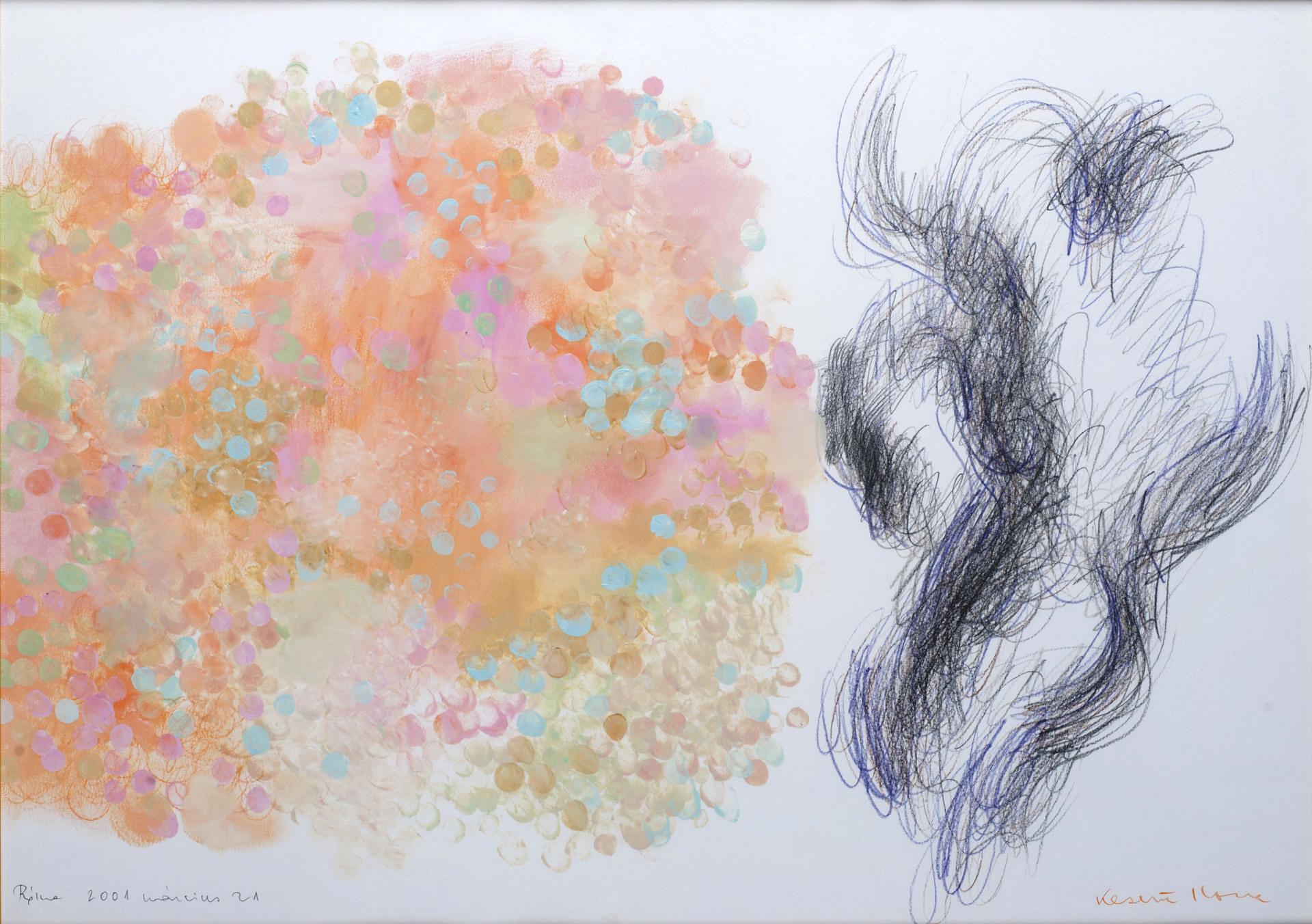 IKI 2001/22 Farnese, Róma, 2001. 03. 21. olaj, grafit, vegyes, papír 501x702 mm