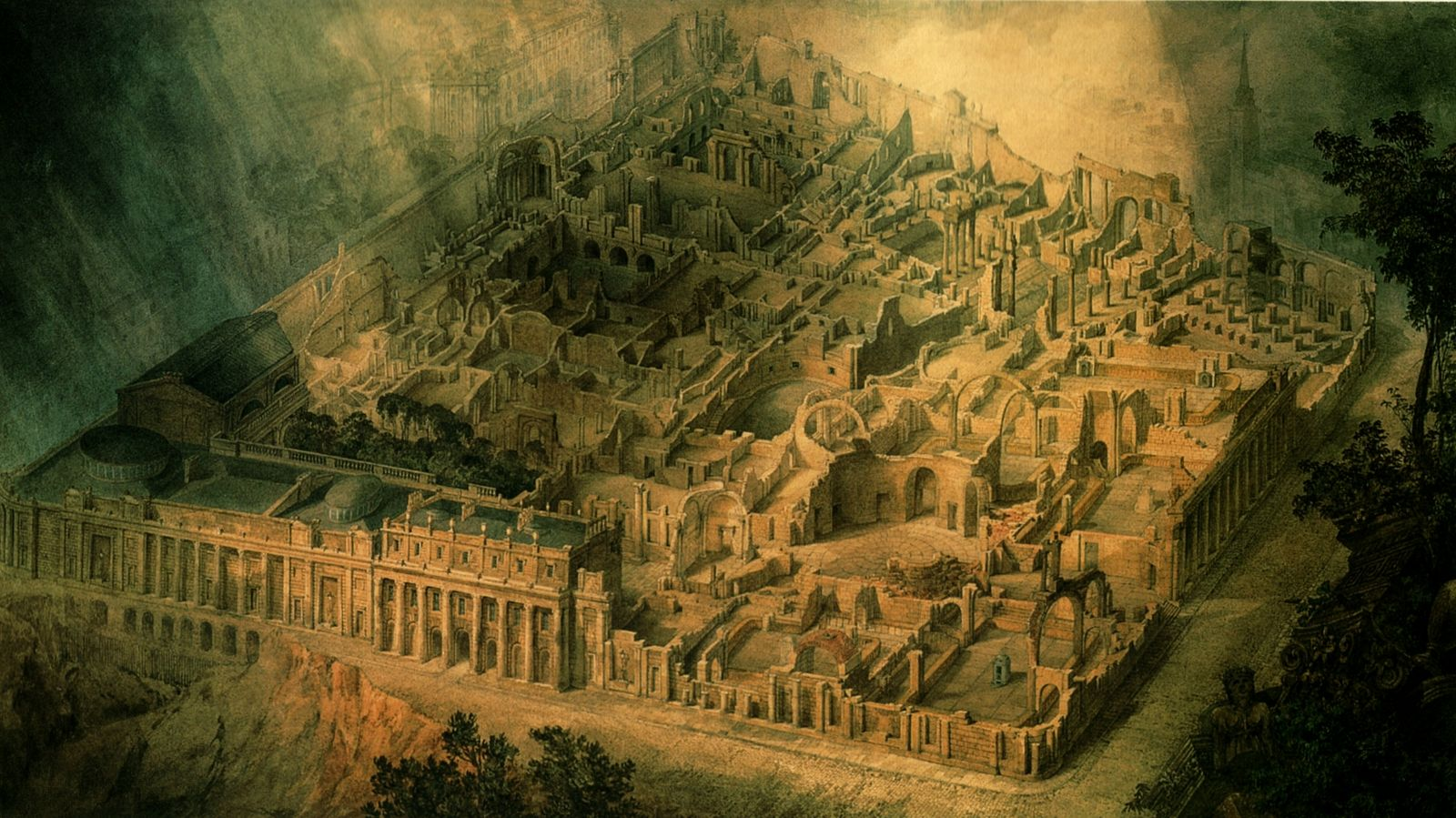 Joseph Gandy, Soane's Bank of England as a ruin, 1830